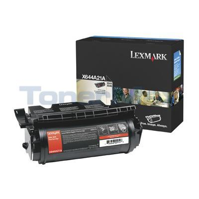 LEXMARK X644E PRINT CART BLACK 10K